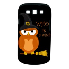 Halloween Orange Witch Owl Samsung Galaxy S Iii Classic Hardshell Case (pc+silicone) by Valentinaart