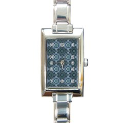 Oriental Pattern Rectangle Italian Charm Watch by ValentinaDesign