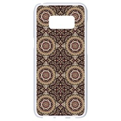 Oriental Pattern Samsung Galaxy S8 White Seamless Case by ValentinaDesign