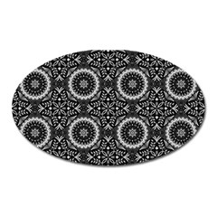 Oriental Pattern Oval Magnet by ValentinaDesign