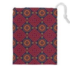 Oriental Pattern Drawstring Pouches (xxl) by ValentinaDesign