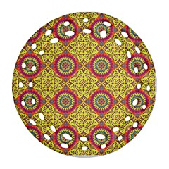 Oriental Pattern Round Filigree Ornament (two Sides)