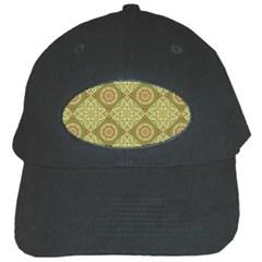 Oriental Pattern Black Cap by ValentinaDesign
