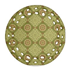 Oriental Pattern Round Filigree Ornament (two Sides) by ValentinaDesign