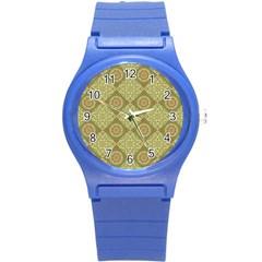 Oriental Pattern Round Plastic Sport Watch (s) by ValentinaDesign