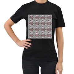 Oriental Pattern Women s T Shirt (black) (two Sided) by ValentinaDesign