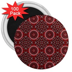 Oriental Pattern 3  Magnets (100 Pack) by ValentinaDesign