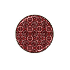 Oriental Pattern Hat Clip Ball Marker (4 Pack) by ValentinaDesign
