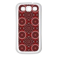Oriental Pattern Samsung Galaxy S3 Back Case (white) by ValentinaDesign