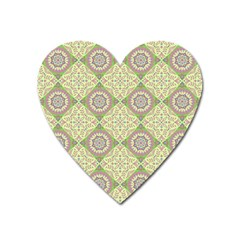 Oriental Pattern Heart Magnet by ValentinaDesign