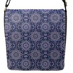 Oriental Pattern Flap Messenger Bag (s) by ValentinaDesign