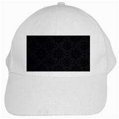 Oriental Pattern White Cap by ValentinaDesign