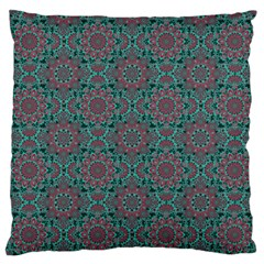 Oriental Pattern Large Flano Cushion Case (two Sides) by ValentinaDesign