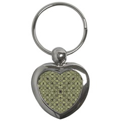 Stylized Modern Floral Design Key Chains (heart)  by dflcprints