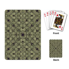 Stylized Modern Floral Design Playing Card by dflcprints