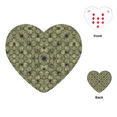 Stylized Modern Floral Design Playing Cards (heart)  by dflcprints