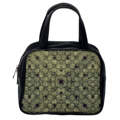Stylized Modern Floral Design Classic Handbags (one Side) by dflcprints