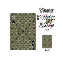 Stylized Modern Floral Design Playing Cards 54 (mini)  by dflcprints