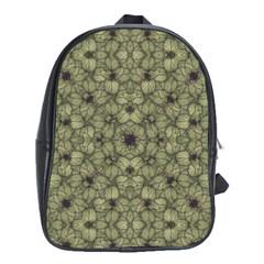 Stylized Modern Floral Design School Bag (xl) by dflcprints