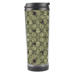 Stylized Modern Floral Design Travel Tumbler by dflcprints