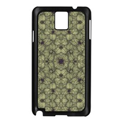 Stylized Modern Floral Design Samsung Galaxy Note 3 N9005 Case (black) by dflcprints