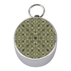 Stylized Modern Floral Design Mini Silver Compasses by dflcprints