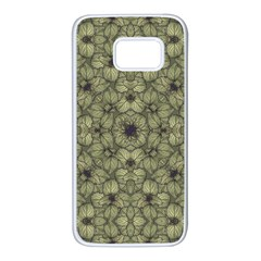Stylized Modern Floral Design Samsung Galaxy S7 White Seamless Case by dflcprints