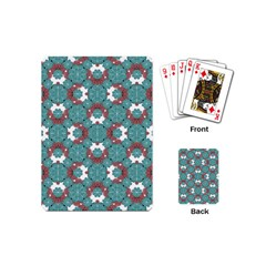 Colorful Geometric Graphic Floral Pattern Playing Cards (mini)  by dflcprints
