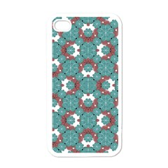 Colorful Geometric Graphic Floral Pattern Apple Iphone 4 Case (white) by dflcprints
