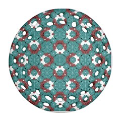 Colorful Geometric Graphic Floral Pattern Ornament (round Filigree) by dflcprints