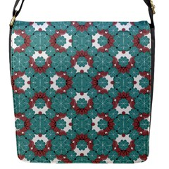 Colorful Geometric Graphic Floral Pattern Flap Messenger Bag (s)
