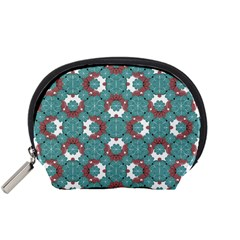 Colorful Geometric Graphic Floral Pattern Accessory Pouches (small)  by dflcprints