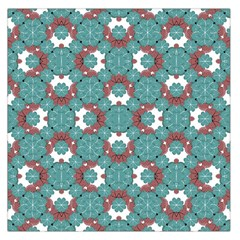 Colorful Geometric Graphic Floral Pattern Large Satin Scarf (square) by dflcprints