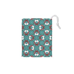 Colorful Geometric Graphic Floral Pattern Drawstring Pouches (xs)  by dflcprints