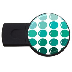 Bubbel Balloon Shades Teal Usb Flash Drive Round (4 Gb) by Mariart