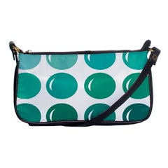 Bubbel Balloon Shades Teal Shoulder Clutch Bags by Mariart