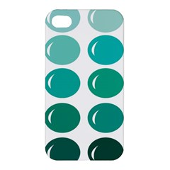 Bubbel Balloon Shades Teal Apple Iphone 4/4s Hardshell Case by Mariart