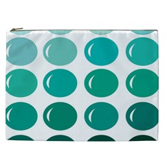 Bubbel Balloon Shades Teal Cosmetic Bag (xxl)  by Mariart