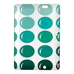 Bubbel Balloon Shades Teal Kindle Fire Hdx 8 9  Hardshell Case by Mariart