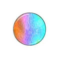 Aurora Rainbow Orange Pink Purple Blue Green Colorfull Hat Clip Ball Marker (4 Pack) by Mariart