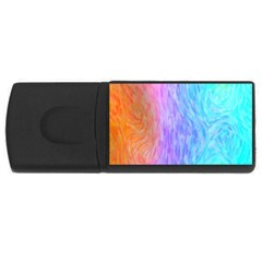 Aurora Rainbow Orange Pink Purple Blue Green Colorfull Rectangular Usb Flash Drive by Mariart