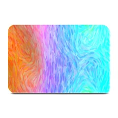 Aurora Rainbow Orange Pink Purple Blue Green Colorfull Plate Mats by Mariart