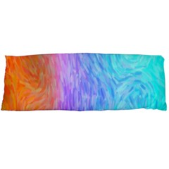 Aurora Rainbow Orange Pink Purple Blue Green Colorfull Body Pillow Case Dakimakura (two Sides) by Mariart