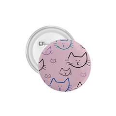 Cat Pattern Face Smile Cute Animals Beauty 1 75  Buttons by Mariart