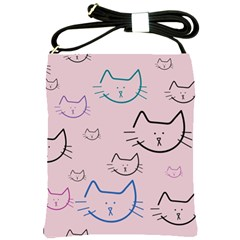 Cat Pattern Face Smile Cute Animals Beauty Shoulder Sling Bags by Mariart