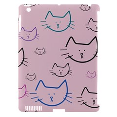 Cat Pattern Face Smile Cute Animals Beauty Apple Ipad 3/4 Hardshell Case (compatible With Smart Cover) by Mariart