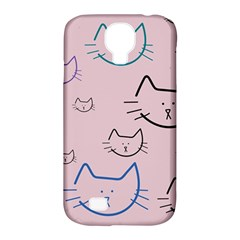 Cat Pattern Face Smile Cute Animals Beauty Samsung Galaxy S4 Classic Hardshell Case (pc+silicone) by Mariart