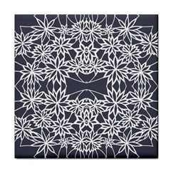 Blue White Lace Flower Floral Star Tile Coasters by Mariart