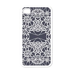 Blue White Lace Flower Floral Star Apple Iphone 4 Case (white) by Mariart