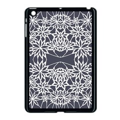 Blue White Lace Flower Floral Star Apple Ipad Mini Case (black) by Mariart